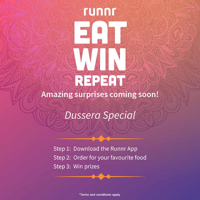 "Runnr - This festive season ""Eat, Win, Repeat with Runnr"""