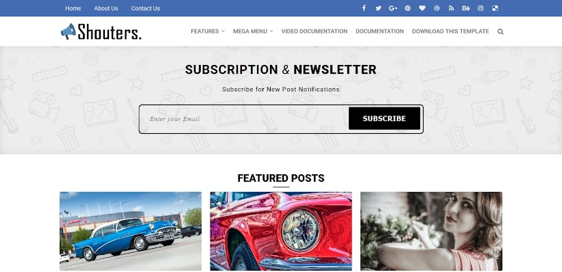 Shouters Free Blogger Template