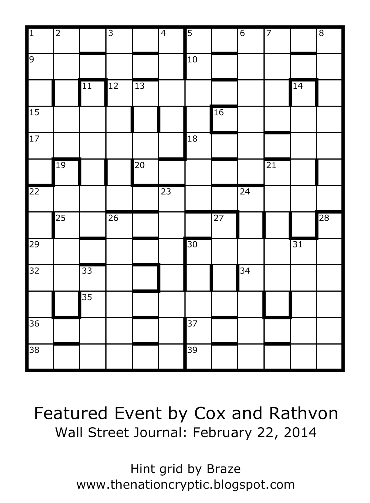 The Nation Cryptic Crossword Forum: Wall Street Journal