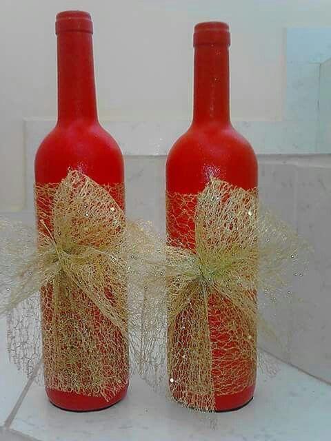 Decoraç u00e3o de natal com garrafas Reciclar e Decorar Blog de Decoraç u00e3o e Reciclagem -> Decorar Garrafa De Vidro Para Natal