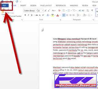 cara memberi password pada office word