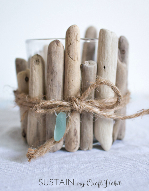 DIY Driftwood Candle Holder Idea