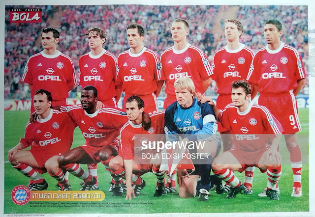 BAYERN MUENCHEN TEAM SQUAD 2000
