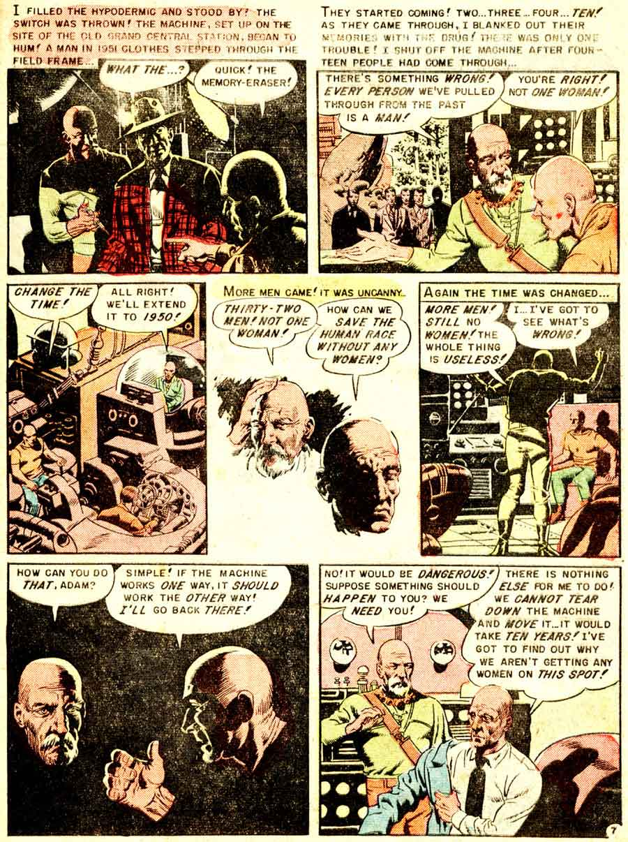 Weird Fantasy v2 #13 ec science fiction comic book page art by Wally Wood
