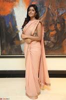 Eesha Rebba in beautiful peach saree at Darshakudu pre release ~  Exclusive Celebrities Galleries 004.JPG