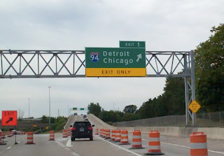 Detroit to Chicago Sign
