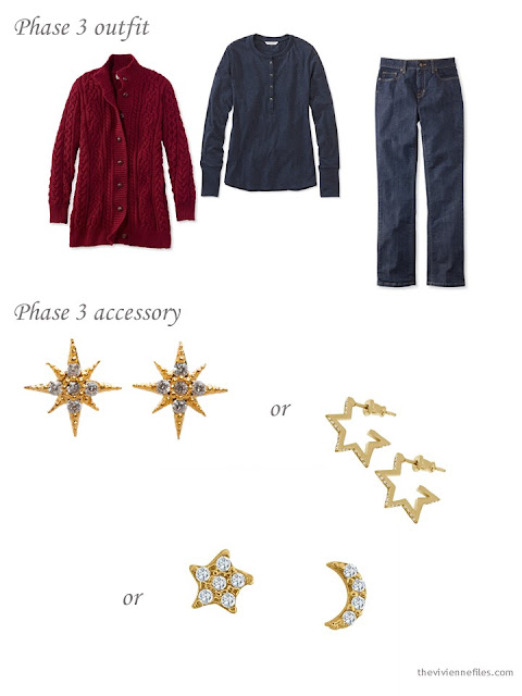 adding earrings to a capsule wardrobe