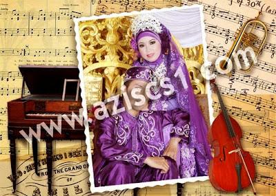 Frame romantis bernuansa musik