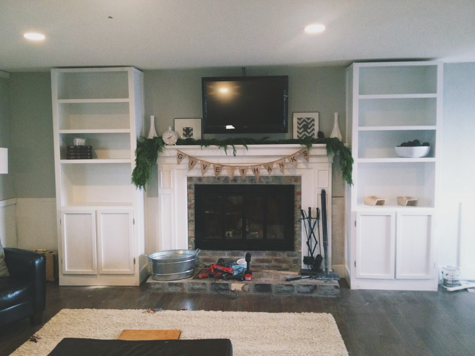Keep home simple our living room built ins - Living room built ins ...