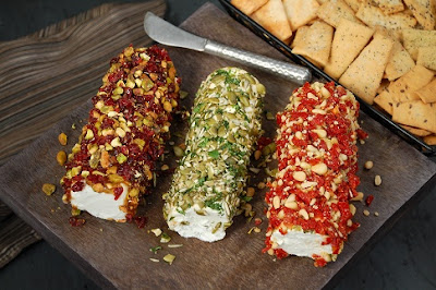 new york style goat cheese logs