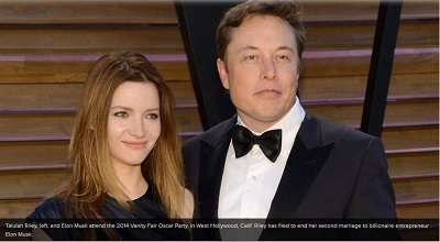Co-founder of Paypal, Elon Musk's Wife Files for Divorce