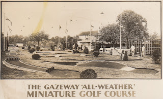 The Gazeway 'All-Weather' Miniature Golf Course postcard from 1930