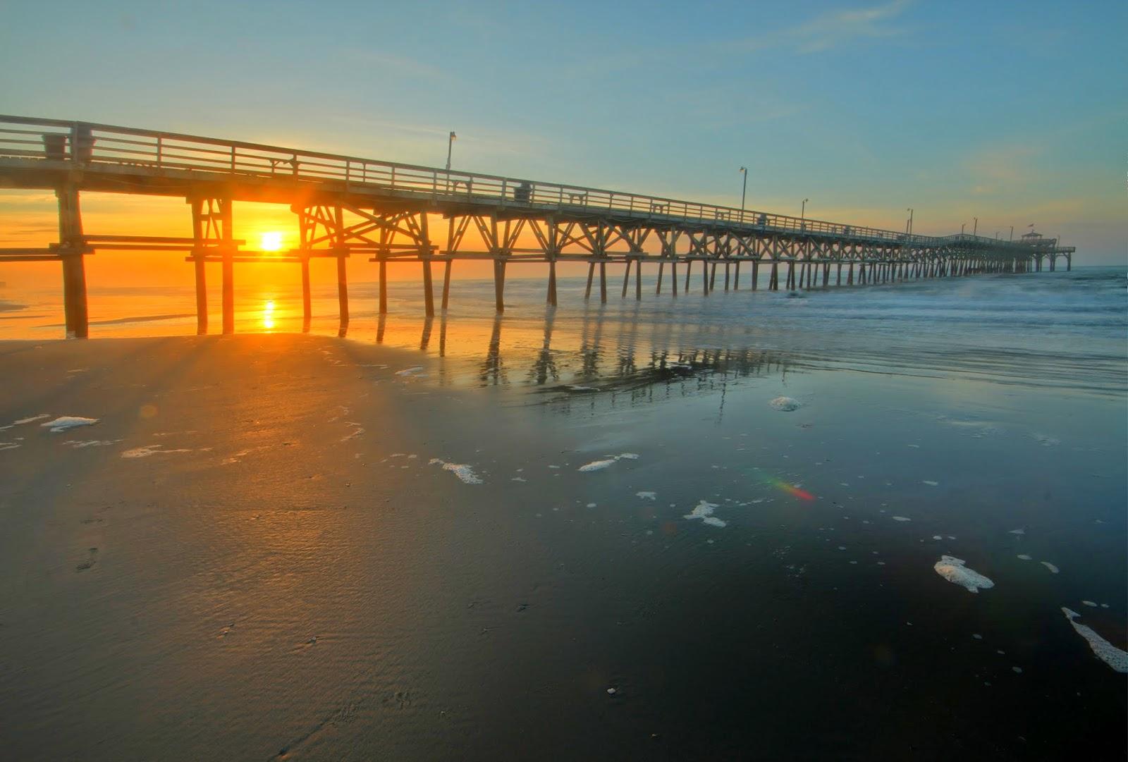 Cherry Grove Pier At Sunrise