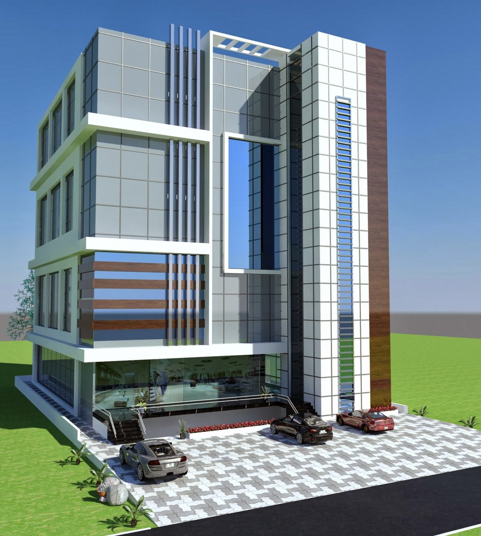 3d front portfolio for Commercial building elevation photos