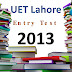 [pdf] UET lahore Entry Test Past Paper year 2013 free Download