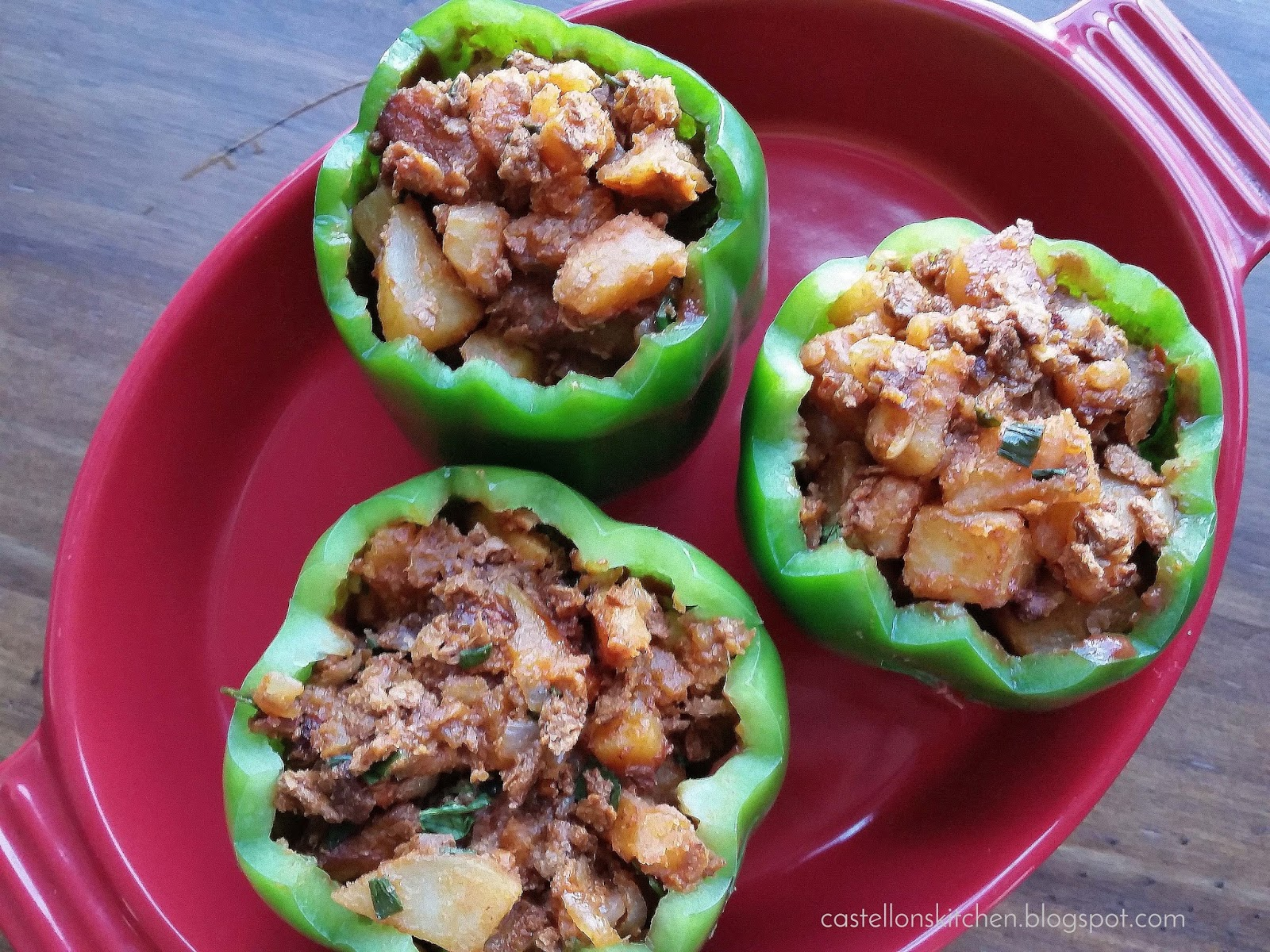 recipe: stove top stuffed peppers in tomato sauce [14]