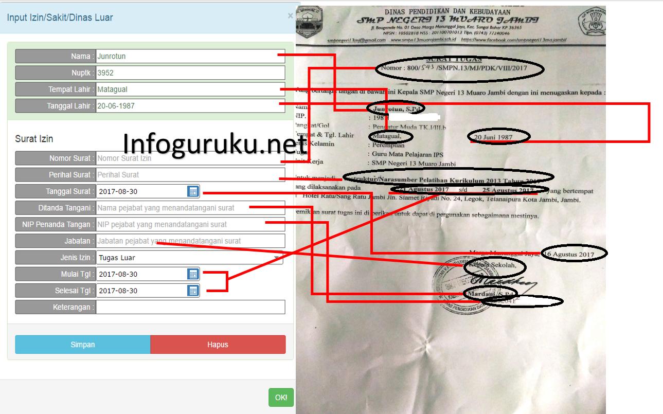 Cara Input Daftar Kehadiran Gtk Pada Laman Http 223 27 144 195