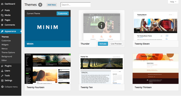 WordPress New Themes Layout 2014