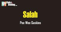 Lirik Lagu Pee Wee Gaskins - Salah