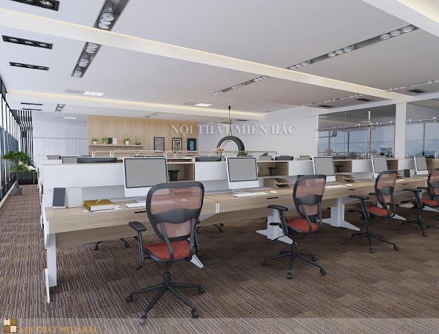 Một thiết kế nội thất phòng làm việc đẹp trước hết phải đáp ứng tính khoa học trong cách bố trí hệ thống nội thất