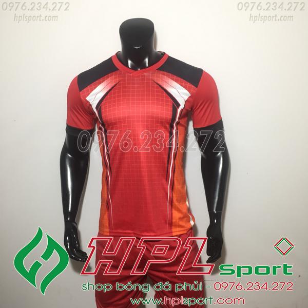 Áo bóng đá ko logo LM Đỏ