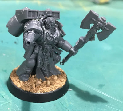 Deathwatch Librarian with Jump Pack WIP front