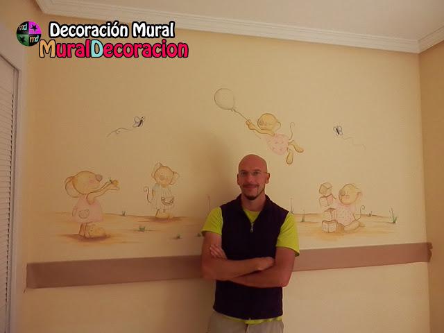 decoración mural_ratones_conejitos_murales_infantiles_madrid