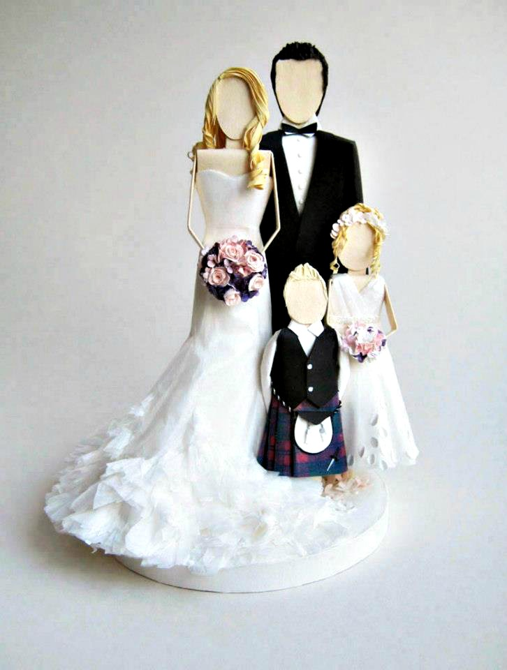 All Things Paper Wedding Cake Toppers