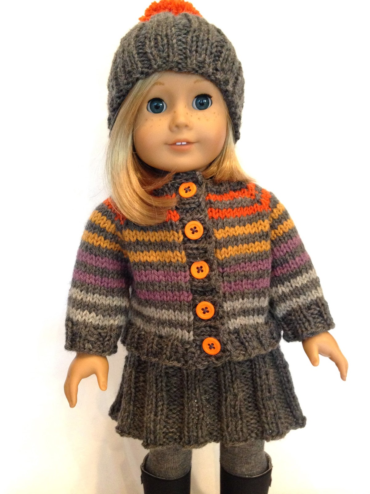 "Huckleberry Friend, free pattern for an 18"" doll - Knitionary"