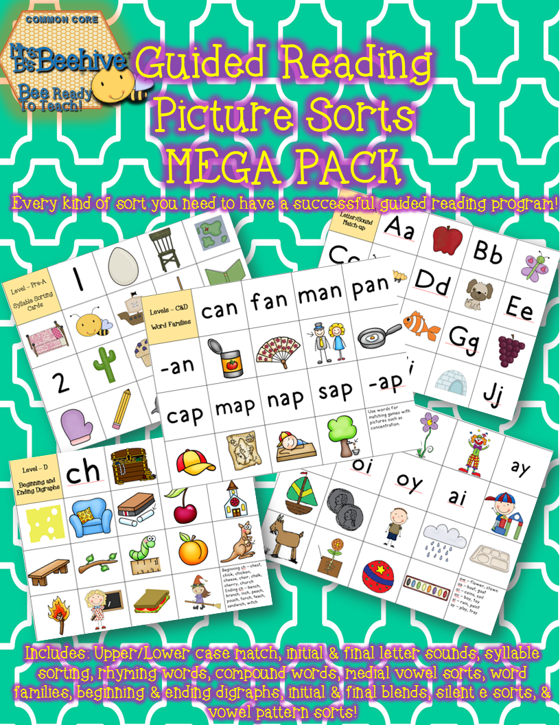 Mrs. B's Beehive - Guided Reading Sorts