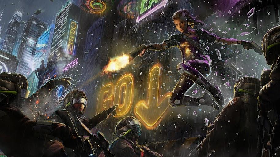 Cyberpunk, Sci-Fi, Art, 4K, #109