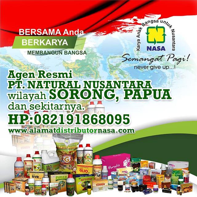 Alamat Agen Distributor RESMI NASA Wilayah Sorong, Papua dan Sekitarnya.