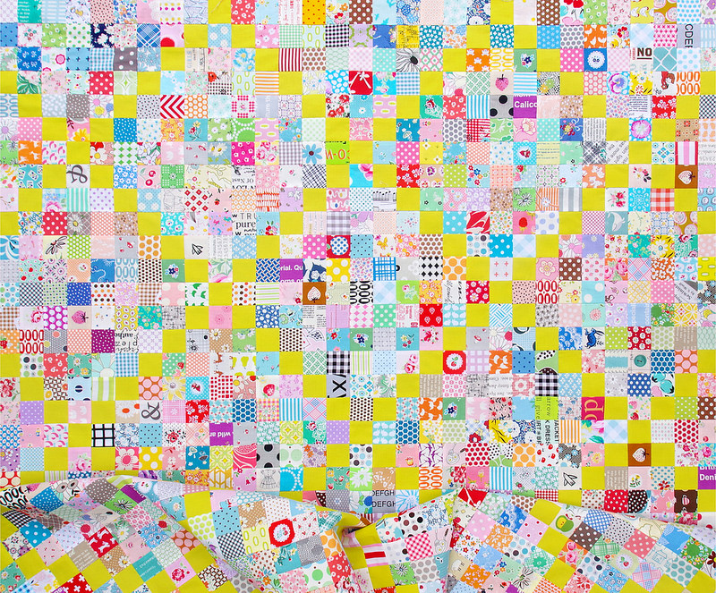Wasabi Irish Chain Quilt | Work in Progress | © Red Pepper Quilts 2017