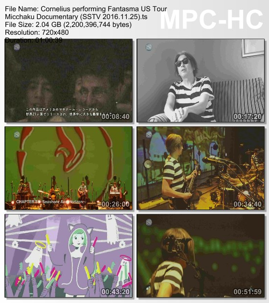 [TV-Variety] コーネリアス – Cornelius performing Fantasma US Tour Micchaku Documentary (SSTV 2016.11.25)