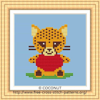 BABY CHEETAH, BABY ANIMALS FREE AND EASY PRINTABLE CROSS STITCH PATTERN
