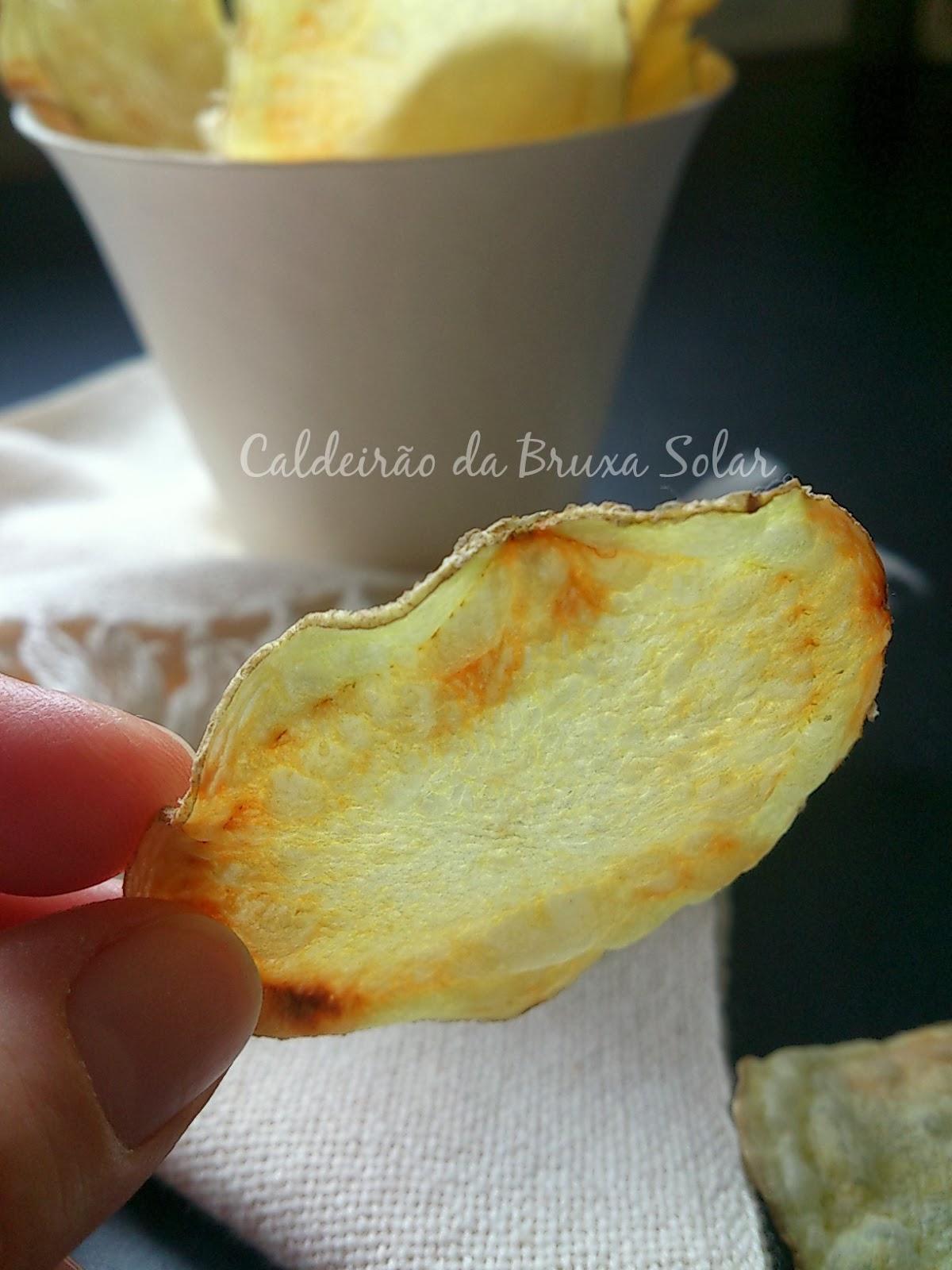 Batatas chips sem fritura