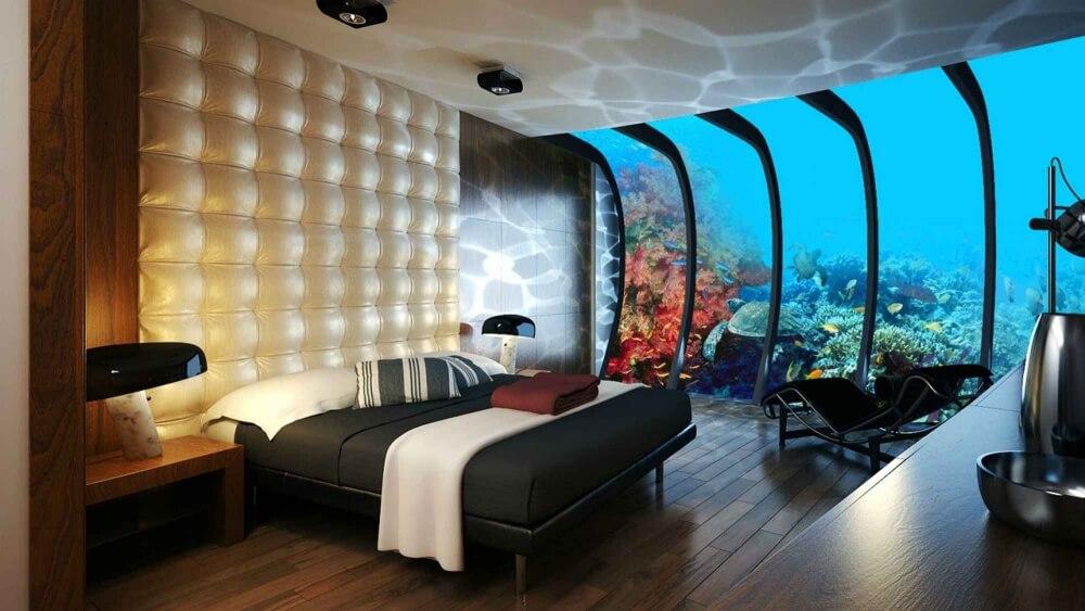غرفة في فندق تحت الماء