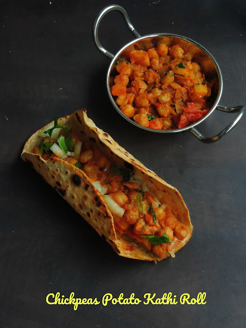Garbanzo bean Rolls,Chickpeas Potato Kathi Roll