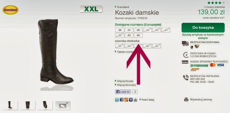a7815ed3 Wśród tych stacjonarnych niekwestionowanym liderem jest Deichmann ze swoją  linią XXL, w ramach której można dostać damskie buty nawet do rozmiaru 44,  ...