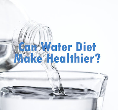 Water diet only helps for a while to cut calories in the body.