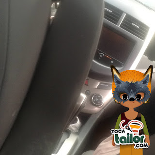 view from the backseat with ipad and toca tailor onequartermama.ca