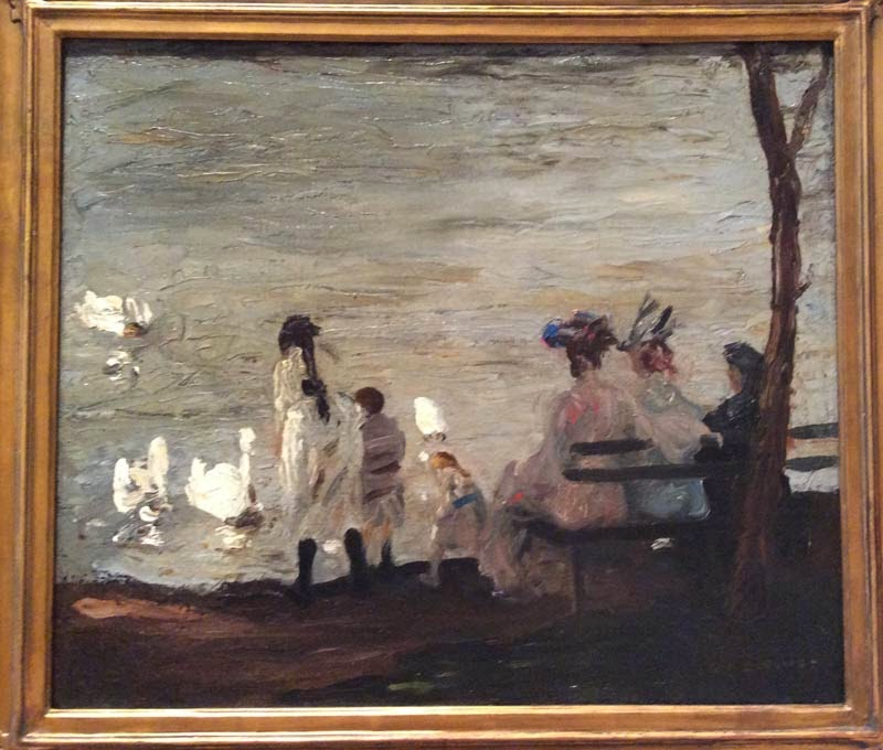 George Bellows, Swans in Central Park