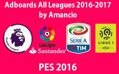 PES 2016 Adboards Semua Liga Musim 2016/2017