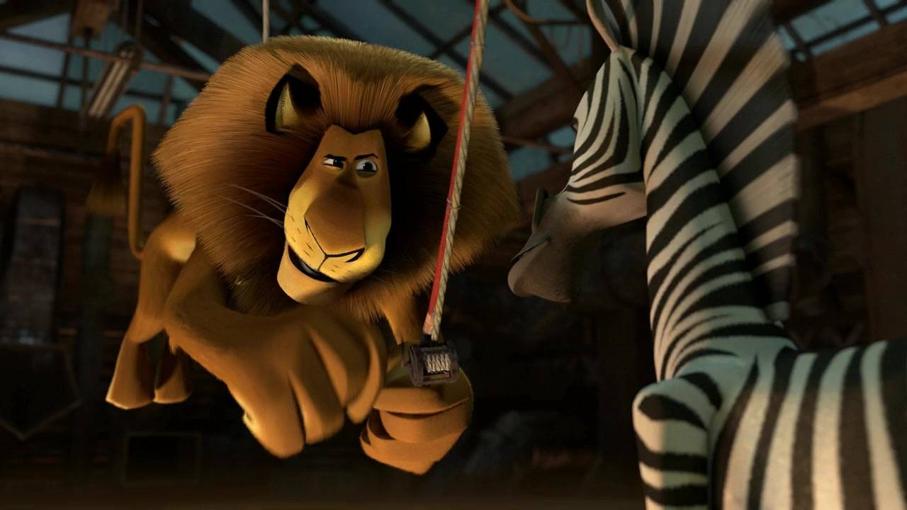 Alex and Marty talking in Madagascar 3: Europe's Most Wanted Madagascar 3: Europe's Most Wanted http://animatedfilmreviews.filminspector.com/2012/12/madagascar-3-europes-most-wanted-2012.html