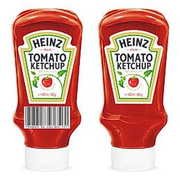 Embalagem de Ketchup Heinz