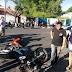 Acidente de moto deixa duas pessoas feridas no centro de Cajazeiras