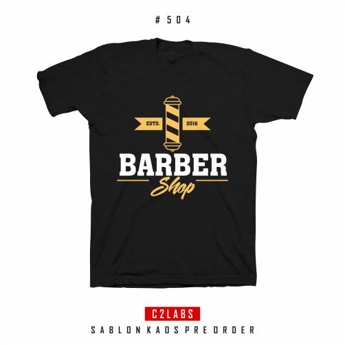 Barber Shop - Desain Kaos Barber Shop #505