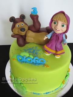 Masha e o Urso bolo aniversário