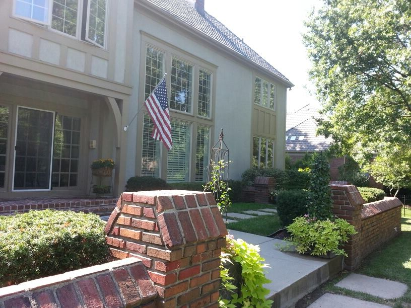 Gracious interiors update by aging a home - Racholas exterior ...