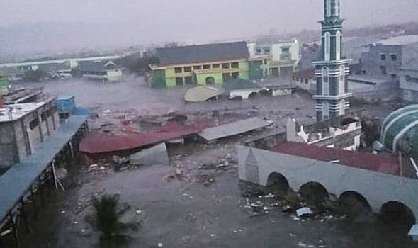 Terrifying New Video Depicts Tsunami Swallowing An Entire City Within Seconds